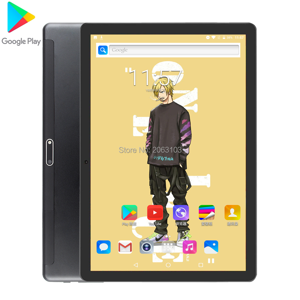 2020 3G 4G Android 7.0 OS 10.1 Inch Tablet Quad Core 2GB RAM 32GB ROM 1280*800 Dual SIM Cards Tablet 10.0 2.5D