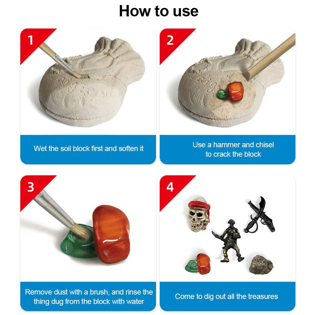 brinquedos de escavacao arqueologicos para criancas modelo 01