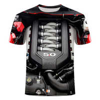 2019 Summer men's t-shirt Motorcycle T-shirt Punk Clothing Retro Clothes Mechanical Tshirt Tops Tees Men Funny 3d t-shirt