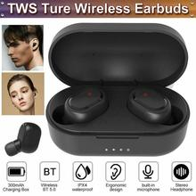 цена на TWS Bluetooth 5.0 Headset Wireless Earphones Earbuds Stereo In-ear Headphones IPX4 Build-in Microphone