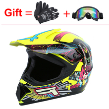 Samger Motorcycle Professional Motorcoss Helmet With Gloves Motorbike Full Face