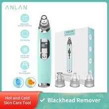 ANLAN Вакуумный очиститель прибор для удаления угрей черных точек, горячий и холодный очиститель для лица, глубокое очищение поры, акне, Удале...