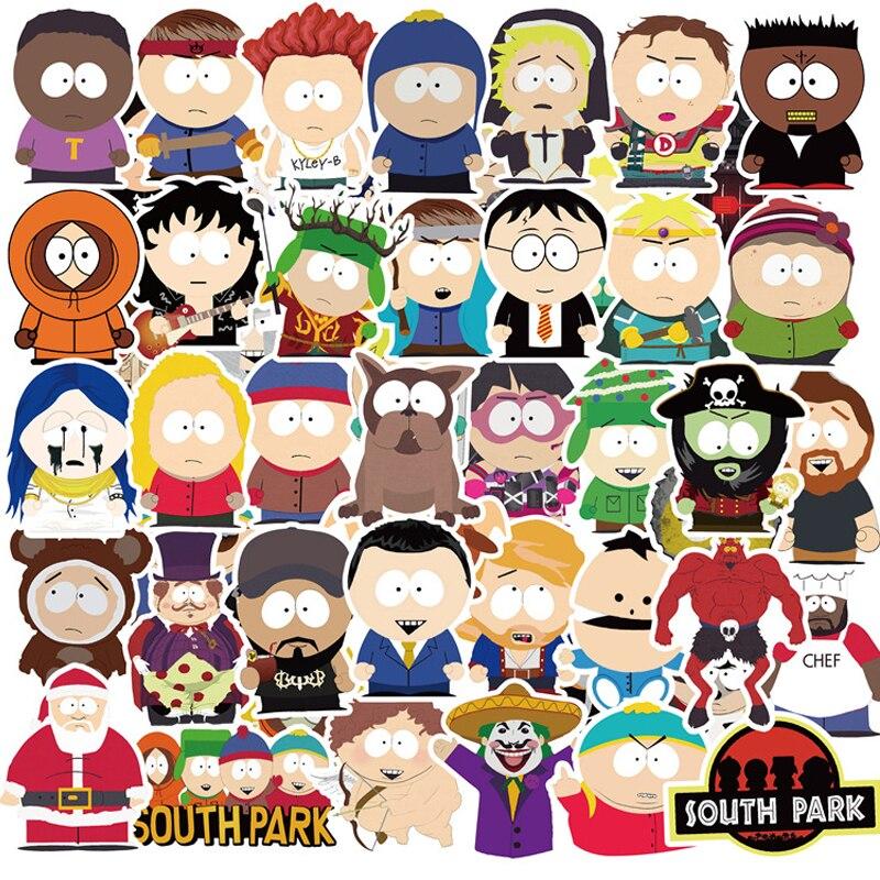 50 adet animasyon SouthPark karikatür çıkartmalar dizüstü gitar bagaj kaykay su geçirmez Graffiti Sticker çıkartması çocuk klasik oyuncaklar
