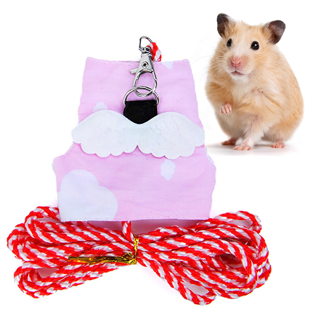 Adjustable Nylon Harness Vest And Leash Set Lead For Pet Dwarf Hamster Gerbil Rat Mouse Ferret Chinchilla Ferret Squirrel Small