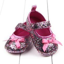 Шикарная мягкая подошва для девочек; детская обувь из хлопка; обувь для малышей; модная обувь для маленьких девочек; детская обувь с бантом;