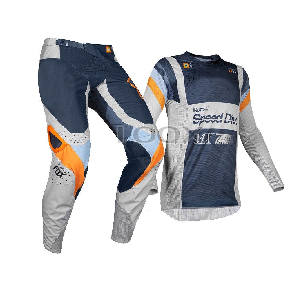 Fox 2020 MX 360 Linc Grey//Orange Motocross Dirtbike Offroad Riding Gear Set