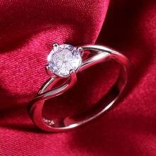 Новые простые обручальные кольца ustar с фианитом класса ААА