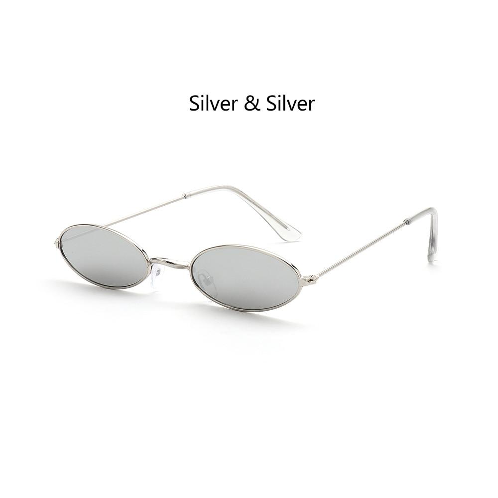 Fashion Vintage Shades Sun Glasses Elegant okulary Retro Small Oval Sunglasses for Men Women Eyeglasses gafas oculos 18