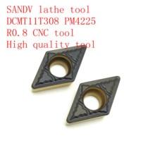 SANDV high quality lathe tool DCMT11T308 PM4225 carbide internal turning tool, R0.8 CNC semi-finishing