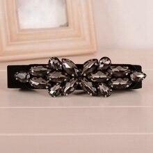 Trend Women Skinny Belt Black Crystal Elastic Waistband Cinch High Waist Belt Strap Corset