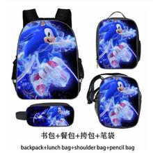 Sonic torby szkolne plecak szkolny dla ucznia Super Mario Bros moda prezent niespodzianka plecak podróżny 3 sztuk zestawów tanie tanio DDAYXXUAN NYLON Żakardowe Unisex Miękka 20-35 litr Wnętrze slot kieszeń Kieszeń na telefon komórkowy Wewnętrzna kieszeń
