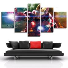 Frame 5 Piece HD Print Iron Man Marvel Movie Poster Painting Canvas Wall Art Picture Home Decoration Living Room