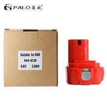 цена на for MAKITA power tool battery 2000mAh 9.6V 2.0Ah Ni-cd for MAKITA 9120 9122 9133 9134 9135 9135A 6222D 6260D