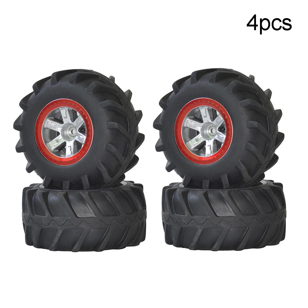 4Pcs <font><b>RC</b></font> Car Wheel Rubber Upgraded Tyres Spare <font><b>Parts</b></font> for <font><b>S911</b></font> 9115 1/12 <font><b>RC</b></font> Off-road Car Toy image