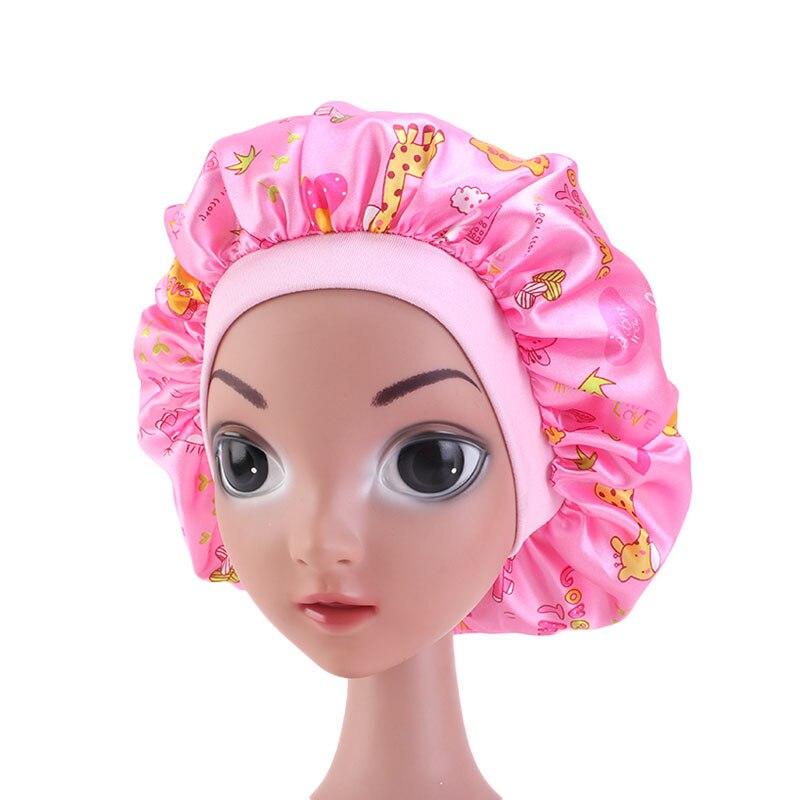 Новинка, детская Атласная шапочка, раньше, Женская широкая эластичная повязка, облегающие шапочки для сна, кепка, кепка, Кепка
