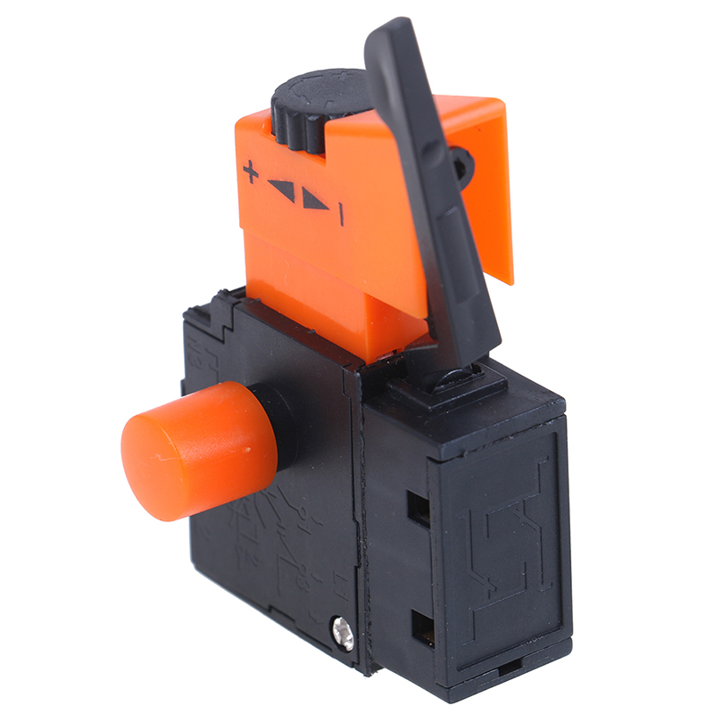 HUXUAN New 1pc AC 220V/6A FA2/61BEK Adjustable Speed Switch Plastic Metal For Electric Drill Trigger Switches Hot Sale