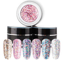 Beautilux 1pc Rainbow Silver Holographic Glitter UV LED Nail Gel Polish Soak Off Sparkling Dazzling Bling Gels 10g