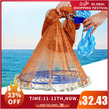 Đĩa Bay Mỹ Gang Tay Lưới Bắt Cá Với Chì Phao Chìm 300 360 420 480 540 600 720Cm Dễ Dàng Ném lưới Đánh Bắt Cá Dụng Cụ Câu Cá