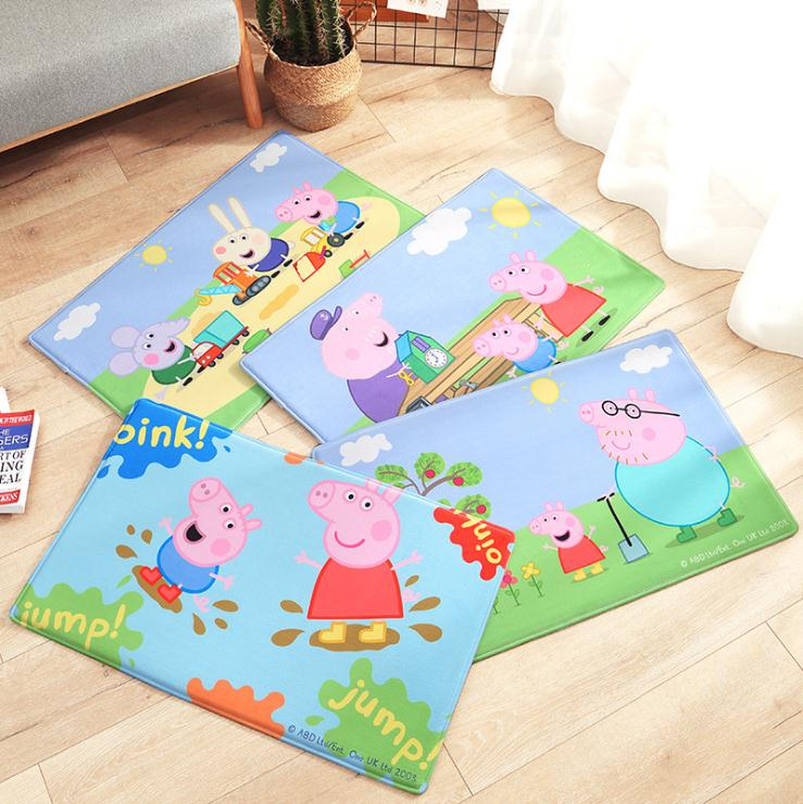 Stuffed Cartoon Peppa Pig Figure Flannel Foot Mat Bathroom Non Slip Pad Water Absorption Entrance Door Mats Kids Home Decor Toys Buy At The Price Of 9 99 In Aliexpress Com Imall Com