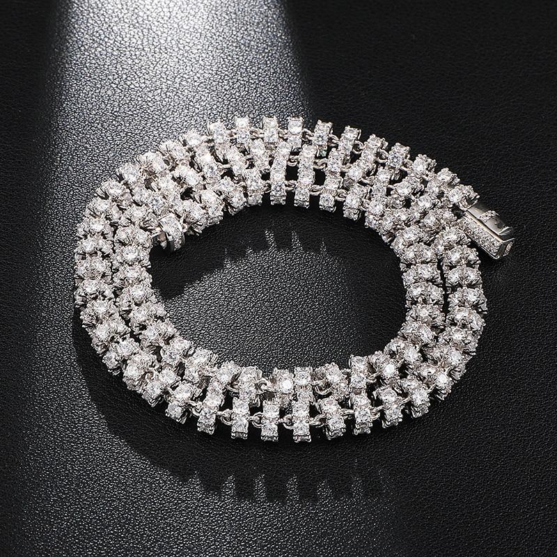 6MM Bling AAA CZ zircon cubique glacé chaîne à maillons ronds collier pour hommes Hip Hop rappeur bijoux 18 ''-24''
