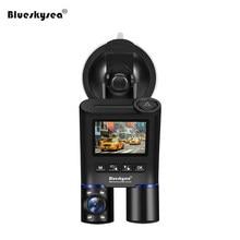 Blueskysea Car B2W Dash Cam HD 1080P IR Night Vision DVR Dual Lens WiFi Camera Supercapacitor GPS for Uber Lyft Taxi Bus