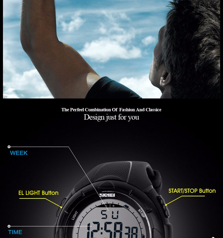 simples led digital militar relógio de alarme