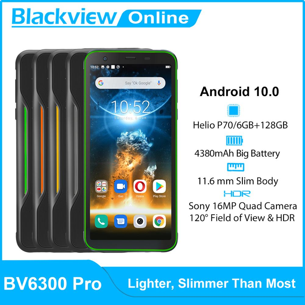 BLACKVIEW BV6300 Pro Helio P70 6GB+128GB IP68 Waterproof Rugged Smartphone 4380mAh NFC Mobile Phone Android 10.0