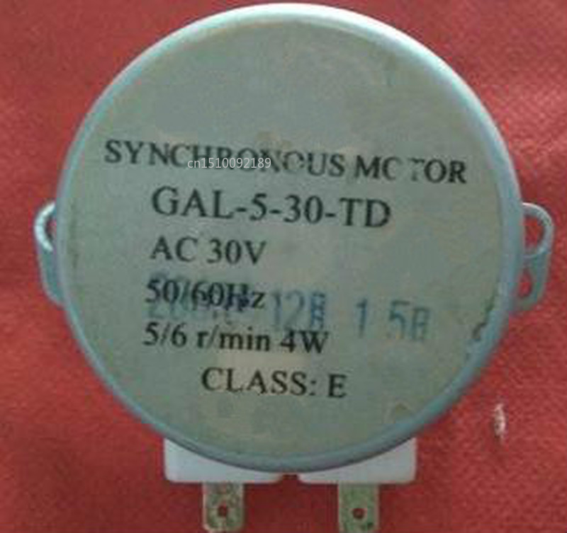 For  Turntable Motor GAL-5-30-TD GAL-5-30-TD(1) AC 30V 50 / 60Hz 5/6 / Min Microwave Oven Parts Free Shipping