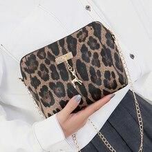 Модные стильные женские сумки через плечо с леопардовым принтом для женщин с подвеской в виде олененка, женские сумки через плечо LP12