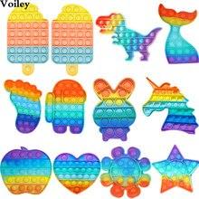 Favores de fiesta para los niños cumpleaños Anniversaire Dinosaure Pops es juguetes para adultos y niños juguetes sensoriales Fidget Pack de juguetes cumpleaños