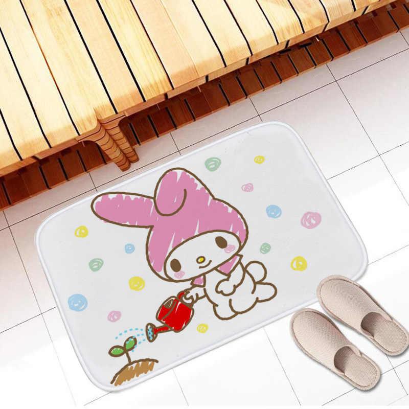 1 stücke 40*60cm Anime Cartoon My Melody Weichen Teppich Kinder Hause Schlafzimmer Teppiche Bad Nicht-slip boden Matte Kawaii Plüsch Fußmatte Neue