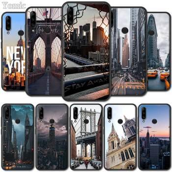 Перейти на Алиэкспресс и купить Черный силиконовый чехол для Lenovo K10 Plus A6 Note Z6 Pro 5G Lite Yout TPU Мягкий мобильный телефон оболочка New York Empire Building