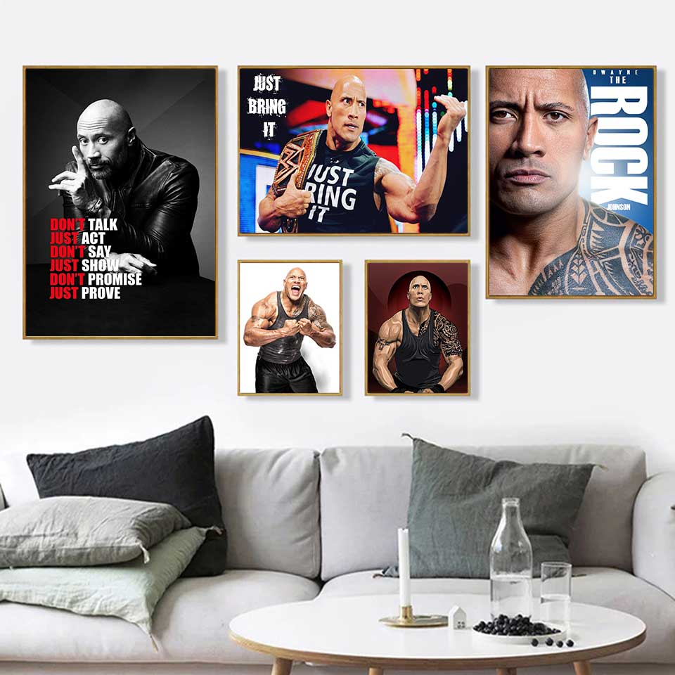Rocky Hot Movie Canvas Silk Poster Living Room Deocr Print 12x18 24x36 inch