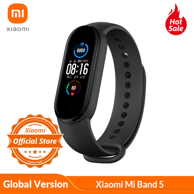 Global Version Xiaomi Mi Band 5 Smart Bracelet 4 Color AMOLED Screen Miband 5 Smartband Fitness Traker Bluetooth Waterp