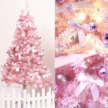 Pink Artificial Christmas Tree Christmas Decoration Supplies Lifelike And Durable Perfect For Both Indoor And Outside Decoration