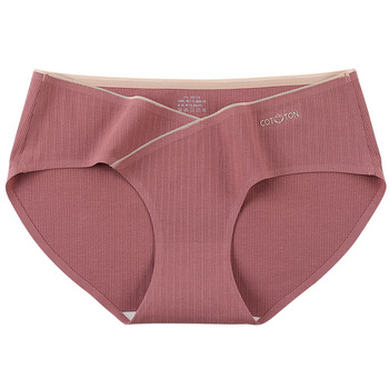 M~4XL Jacquard Cotton Low Waist Belly Maternity Panties Plus Size Seamless Underwear For Pregnant Women Ladies Pregnancy Briefs 1