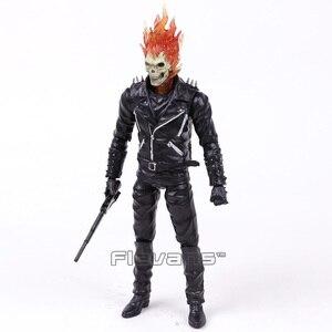 Image 4 - Ghost rider johnny blaze pvc figura de ação collectible modelo brinquedo 23cm