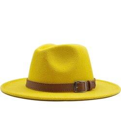 Фетровая шляпа Hawkins, шерстяная шляпа-Трилби с широкими полями для женщин и мужчин, шляпа для джазовой церкви, крестного отца, шляпы сомбреро