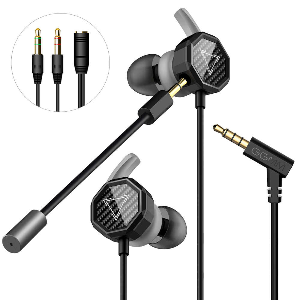 GGMM G1 Gaming Headset Earphone With Mic Detachable Gaming Headphone Headsets Deep Bass For Mobile Phone PC Gamer SWITCH PS4 etc