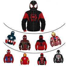The Avengers Masked Boys Jacket Cosplay Venom Spiderman American Captain Zipper