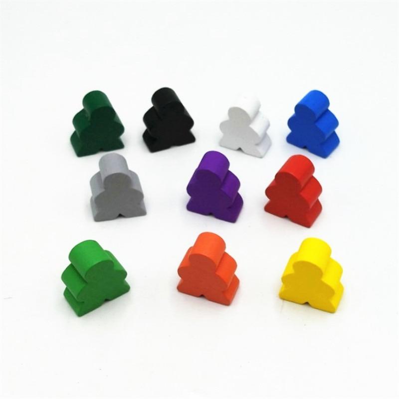 10 pièces grande taille en bois humanoïde pièces d'échecs pour accessoires de jeu de société 20*23*10mm