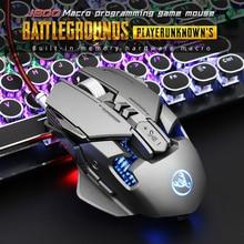 HXSJ 6400 DPI USB przewodowa konkurencyjna mysz do gier 7 programowalne przyciski mechaniczna definicja makro programowanie myszy do gier