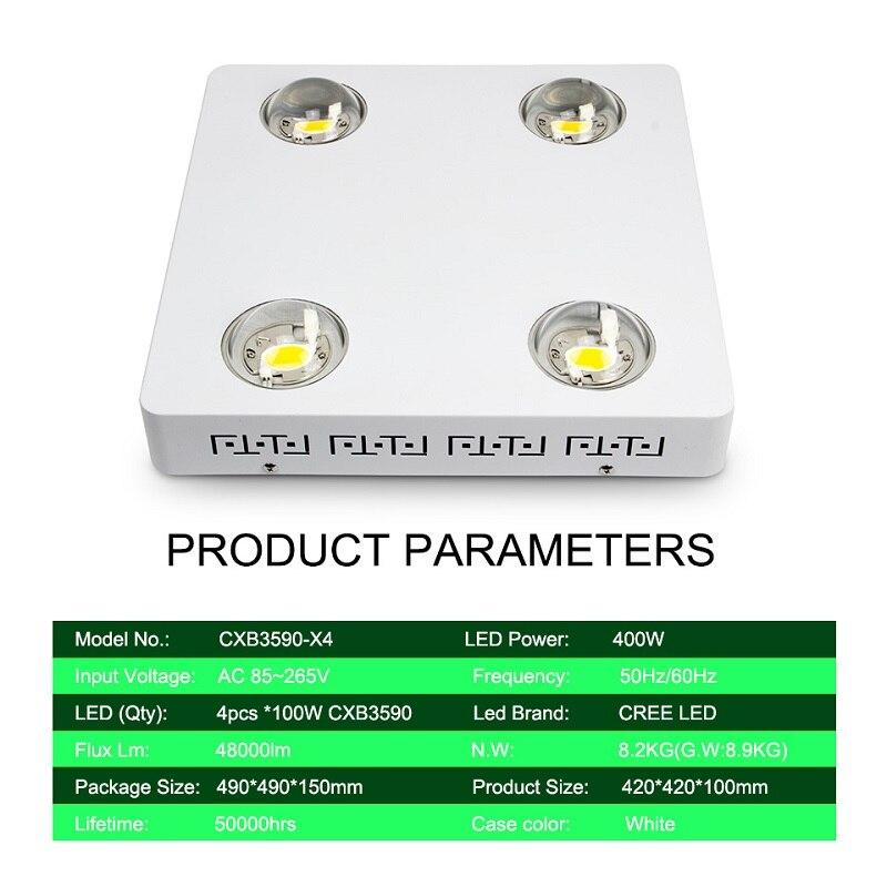 Image 3 - CREE CXB3590 400W 3500K COB LED Grow Light Full Spectrum 48000LM = HPS 600W Growing Lamp Indoor Plant Growth Lighting PanelLED Grow Lights   -