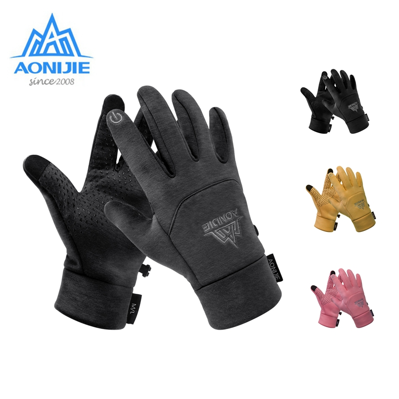 Aonijie M53 Winter Warm Gloves Touchscreen Anti-Slip Windproof Cycling Sports Winter Warm Glove For Camping Hiking Trial Running