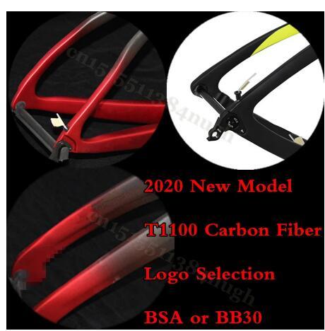 2020 Internal Cable Road Race Full T1100 Carbon Bike  Axle Disk Brake 1K Bicycle Frame Cycling Road Bike Carbon Disk Frameset
