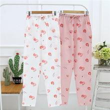 Xifer весенние и осенние женские хлопковые домашние брюки двухслойные