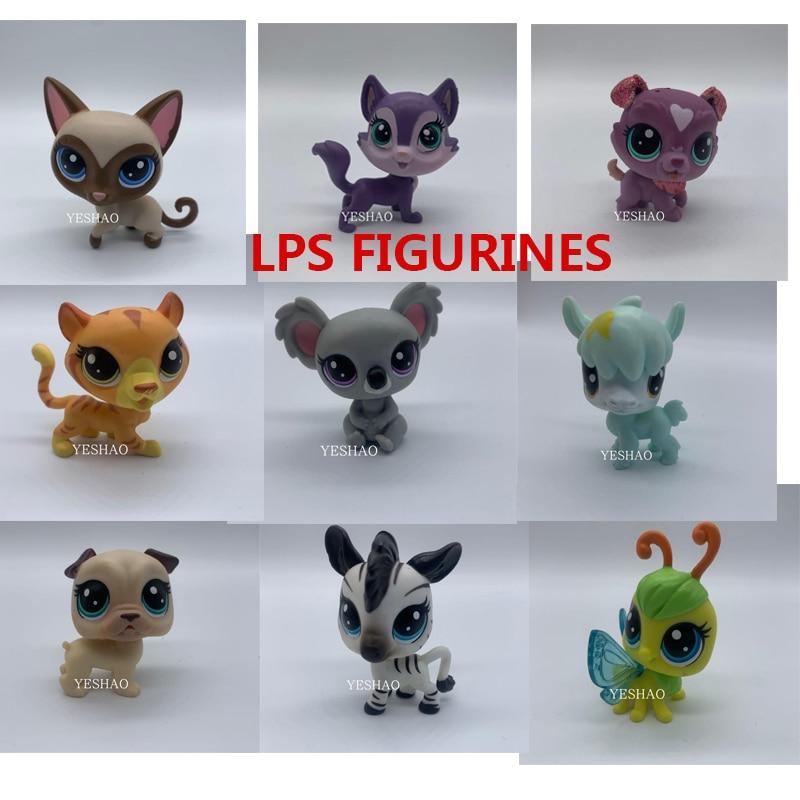 Hasbro Original LPS Shaking Heads Dolls Littlest Pet Shop Cat Cute Cartoon Action Figure Pet Shop Collectible Animal Model Toys
