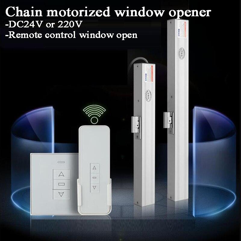 3 Wires 220V Motorized Chain Window Opener Greenhouse Window Opener Automatic Close/open Window Skylight/basement/Home Window