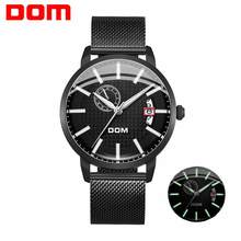 2020New Dom Desain Fashion Skeleton Sport Mekanis Watch Luminous Tangan Transparan Mesh Gelang untuk Pria Top Brand Mewah(China)