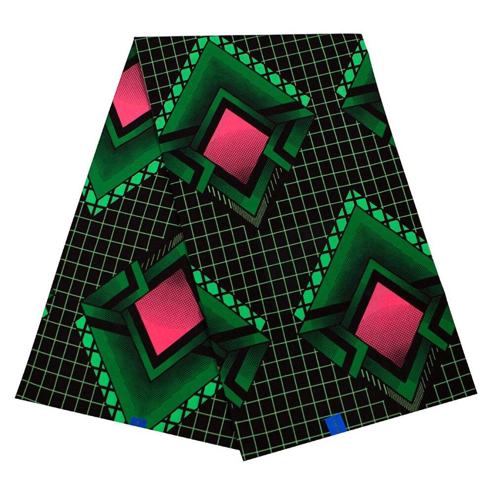 100% Cotton New Fashion African Red & Dark Green Print Fabric High Quality Ankara Wax Java